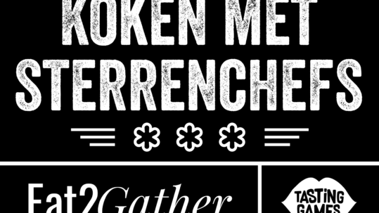 Eat2Gather logo koken met sterrenchefs Tasting Games